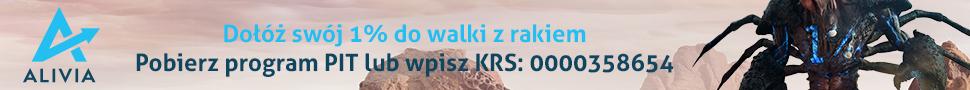 Dołóż swój 1% do walki z rakiem. Pobierz program PIT lub wpisz KRS 0000358654
