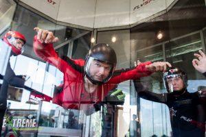 niepełnosprawny w tunelu aerodynamicznym