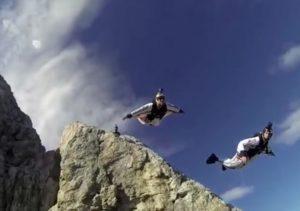 skok base jumping