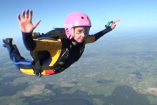 ja podczas kursu spadochronowego